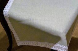 Serweta lniana z koronką 80 x 80