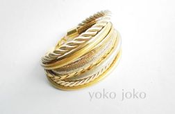 Bransoletka rzemień-sznurek złoto