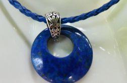 Lapis lazuli, kółeczko z dziurką, wisiorek
