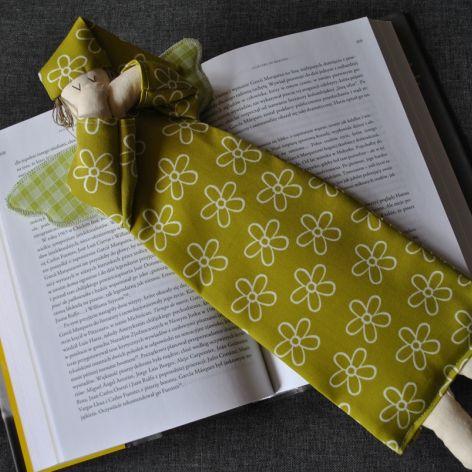 Zakładka do książki - anioł oliwkowy
