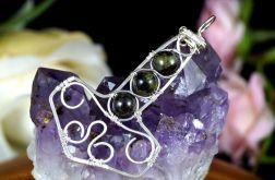 Mjolnir, srebrny wisior w kształcie młota