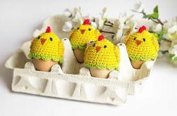 Zestaw 6 ocieplaczy na jajka. Kurczaczki