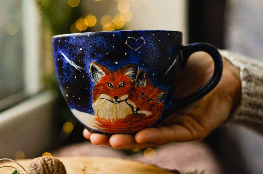 Kubek fox love - Duży kubek - Lisy