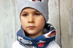 Komplet dla chłopca czapka i komin