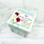 Box na ślub z tortem 3D mięta fuksja