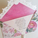 Kartka ślubna kopertówka - para - życzenia