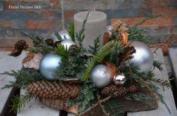 duży stroik z zapachową świecą