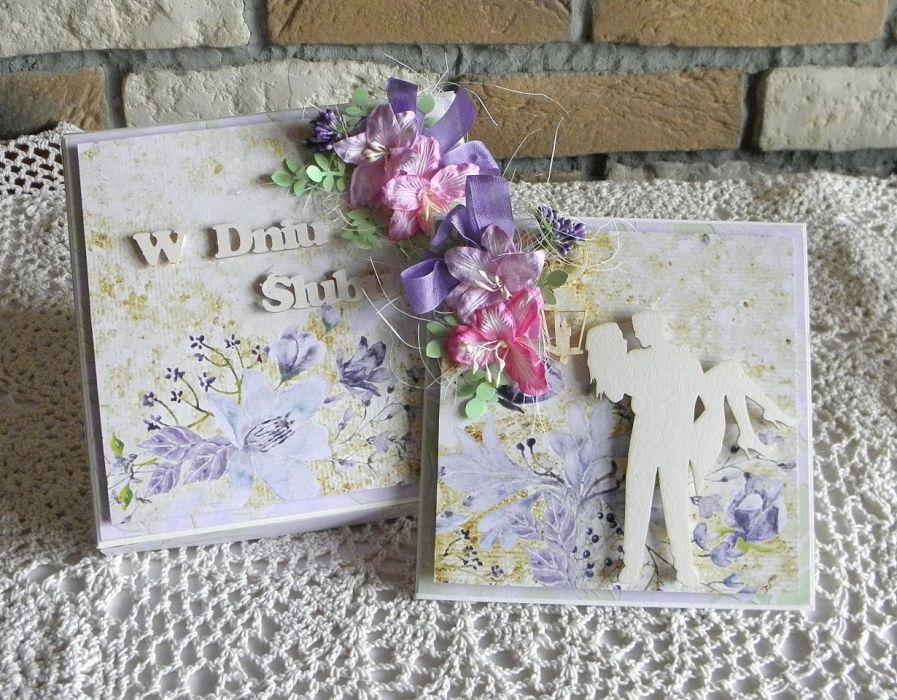 W dniu ślubu 02 - kartka w pudełku