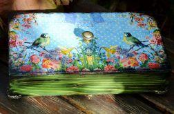 Retro szkatułka z ptaszkami