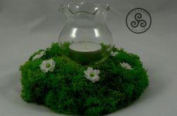 Świecznik z chrobotkiem (kwiaty)