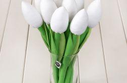 TULIPANY, biały bawełniany bukiet