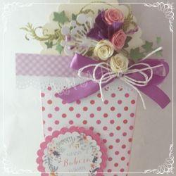 Kartka dla Mamy...doniczka pełna kwiatów