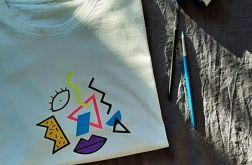 Koszulka ręcznie malowana picasso unisex