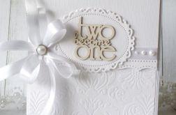Ślubna elegancja - kartka w kopercie