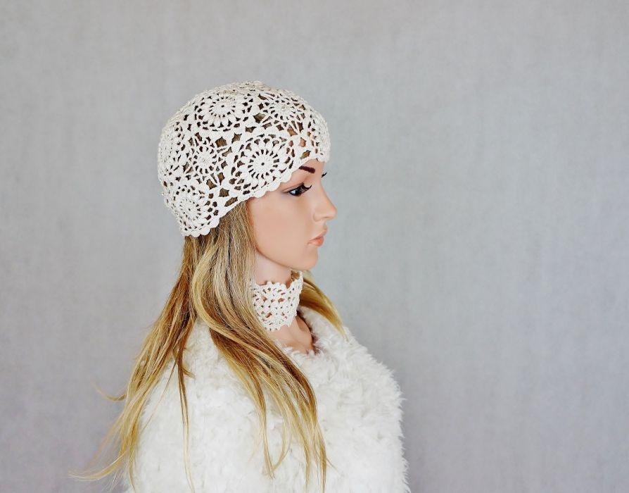 Czapka Lady eL 02 - czapka handmade
