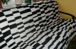 narzuta patchwork biało-czarna