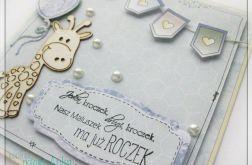Kartka na urodziny, roczek z żyrafką 1