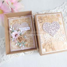 Ślubna kartka w pudełku 184