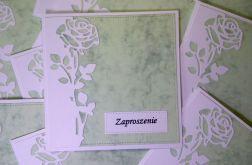 Zaproszenia z różą (bez kopert)
