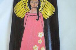 Anioł w różowej sukience -na desce