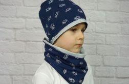 Granatowo - szary komplet dla chłopca
