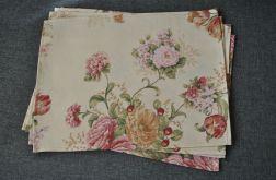 4 podkładki pod talerze - kwiatowy ogródek