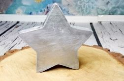 Rustykalna stojąca gwiazda święta srebro