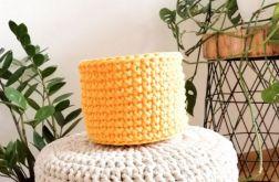 Koszyk 20x16cm,sznurek bawełniany,żółty,szary