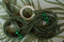 Unikatowy kwietnik makrama juta zielony boho