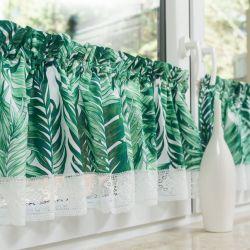 Nowoczesne zazdrostki z liśćmi palmy