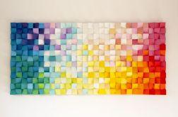 """Obraz drewniany 3D Mozaika """"Dyfuzja"""""""