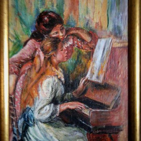 Dziewczęta przy Pianinie - August Renoir