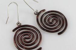Spiralne - miedziane kolczyki 2109-02