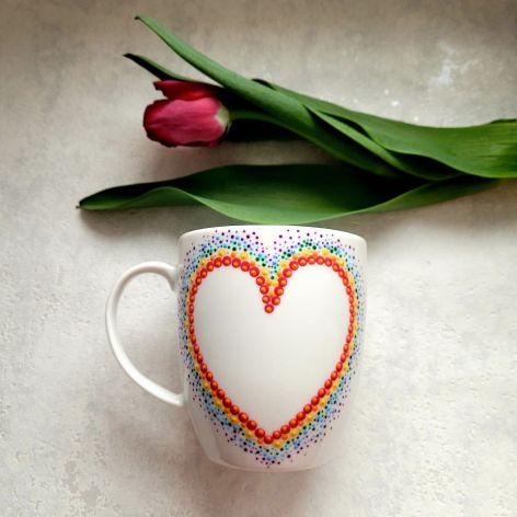 Ręcznie zdobiony kubek Dzień Matki