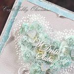 Ślubne serce turkusowe - Ślubne serce turkusowe - detal I