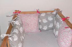 Modułowy ochraniacz do łóżeczka 6 szt N34
