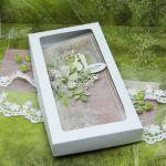Komplet ślubny kartka+skrzynka na wino 10 - ślubne pudełko na pieniądze