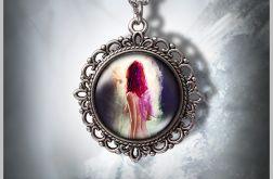 Medalion Wróżka - Fairy - zdobiony