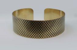 Rybia łuska - mosiężna bransoleta 190814-02
