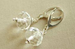 Kolczyki ze srebra i kryształu górskiego