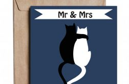 Kartka ślubna z autorską grafiką