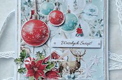 Kartka bożonarodzeniowa kwadrat