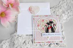 Ślubna kartka w kopercie 17