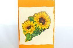 Kartka uniwersalna ze słonecznikami 5