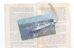 Vintage zakładka - statek 1