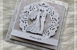 ślubna card w kolorze kremowym