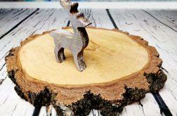 Rustykalny stojący jelonek brąz święta