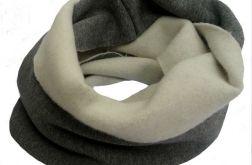 Szalik komin z tkaniny dresowej drap.