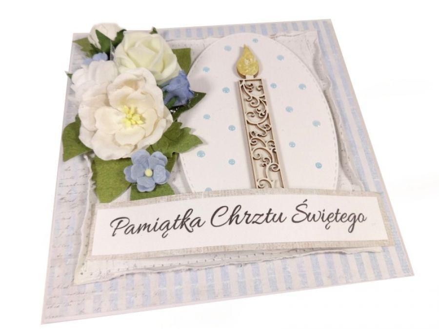 Kartka na Chrzest ze świecą #363