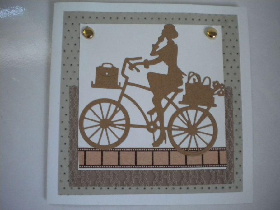 Kartka uniwersalna  z rowerem